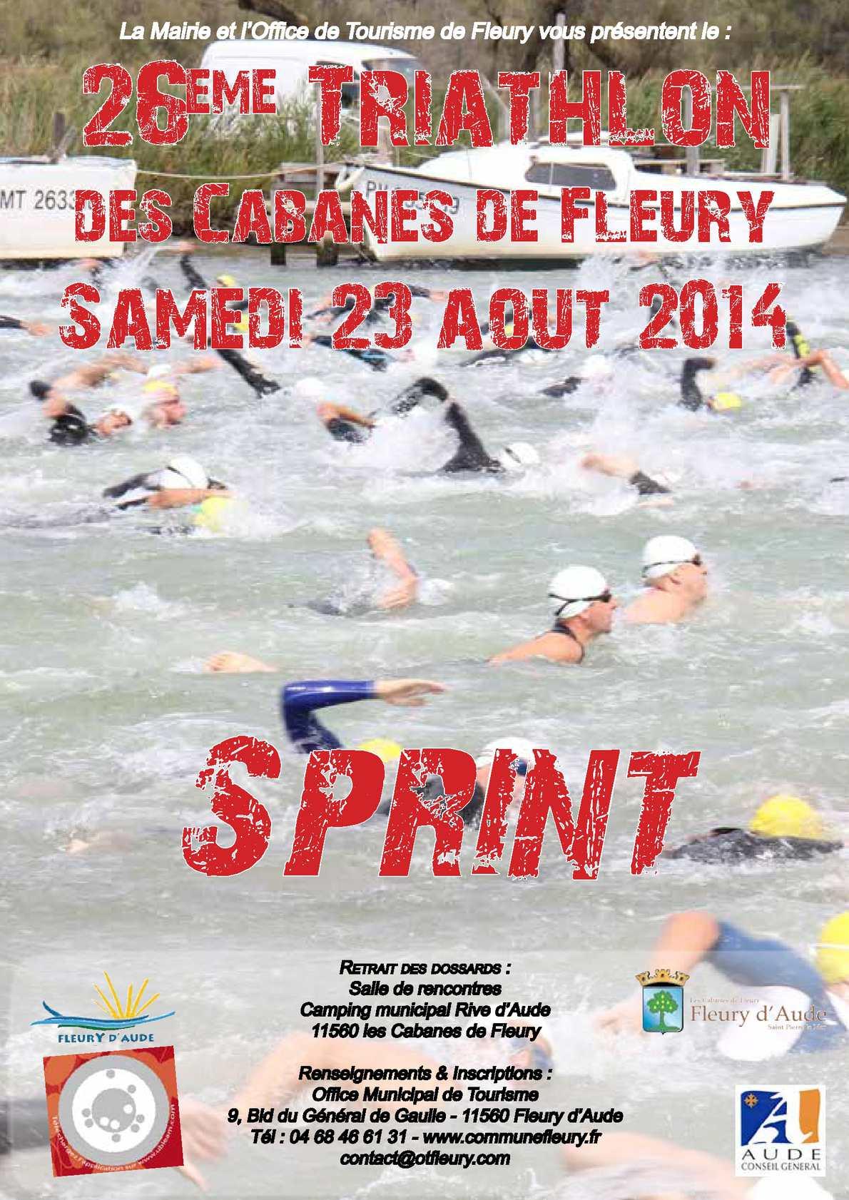 Calam o bulletin d 39 inscription 26 me triathlon des cabanes - Office tourisme fleury d aude ...