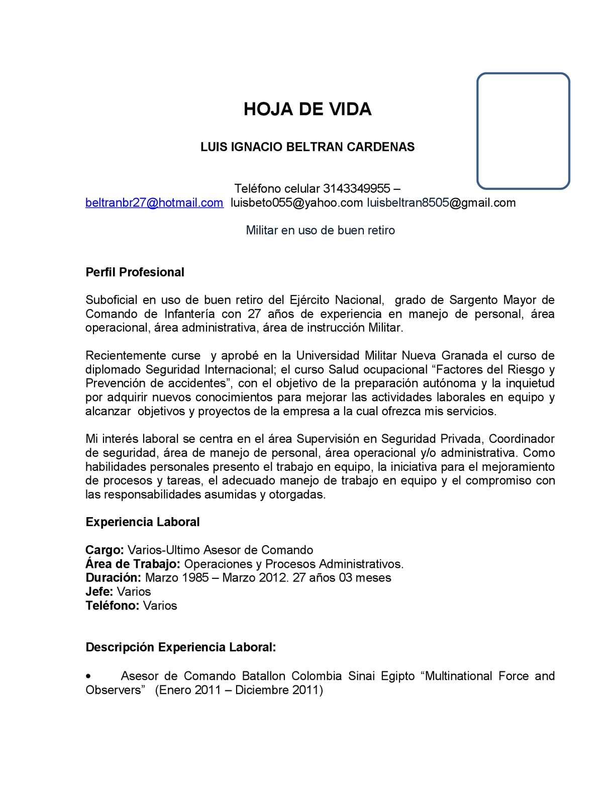 Calaméo - HOJA DE VIDA