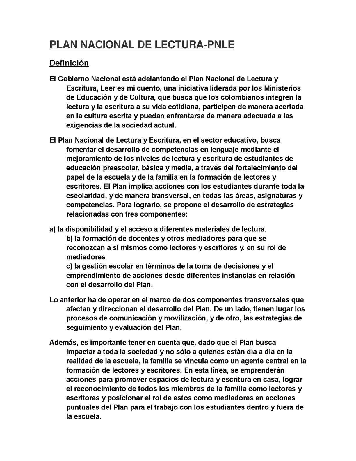 Calaméo - PLAN NACIONAL DE LECTURA