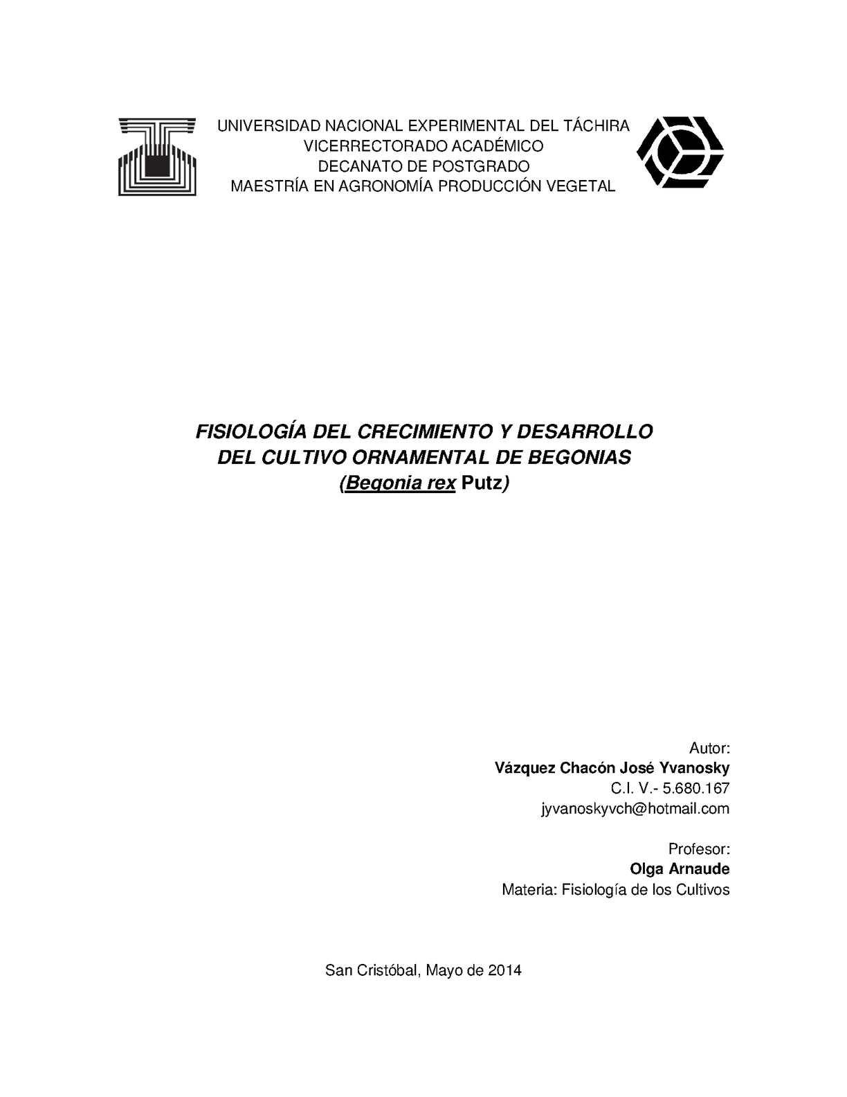 Calaméo - FISIOLOGÍA DEL CRECIMIENTO Y DESARROLLO DE BEGONIA
