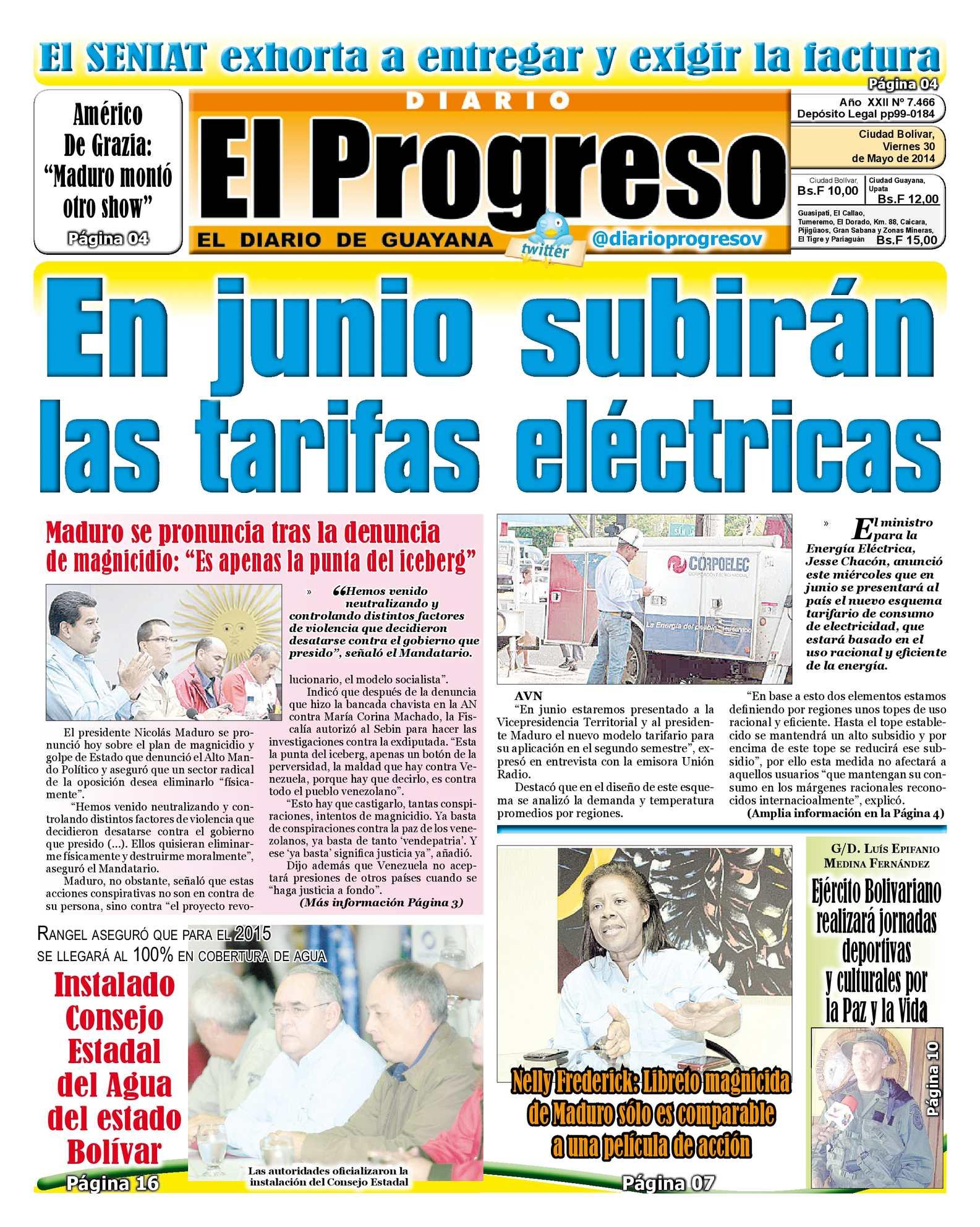 Calaméo - DIARIO EL PROGRESO EDICIÓN DIGITAL 30-05-2014