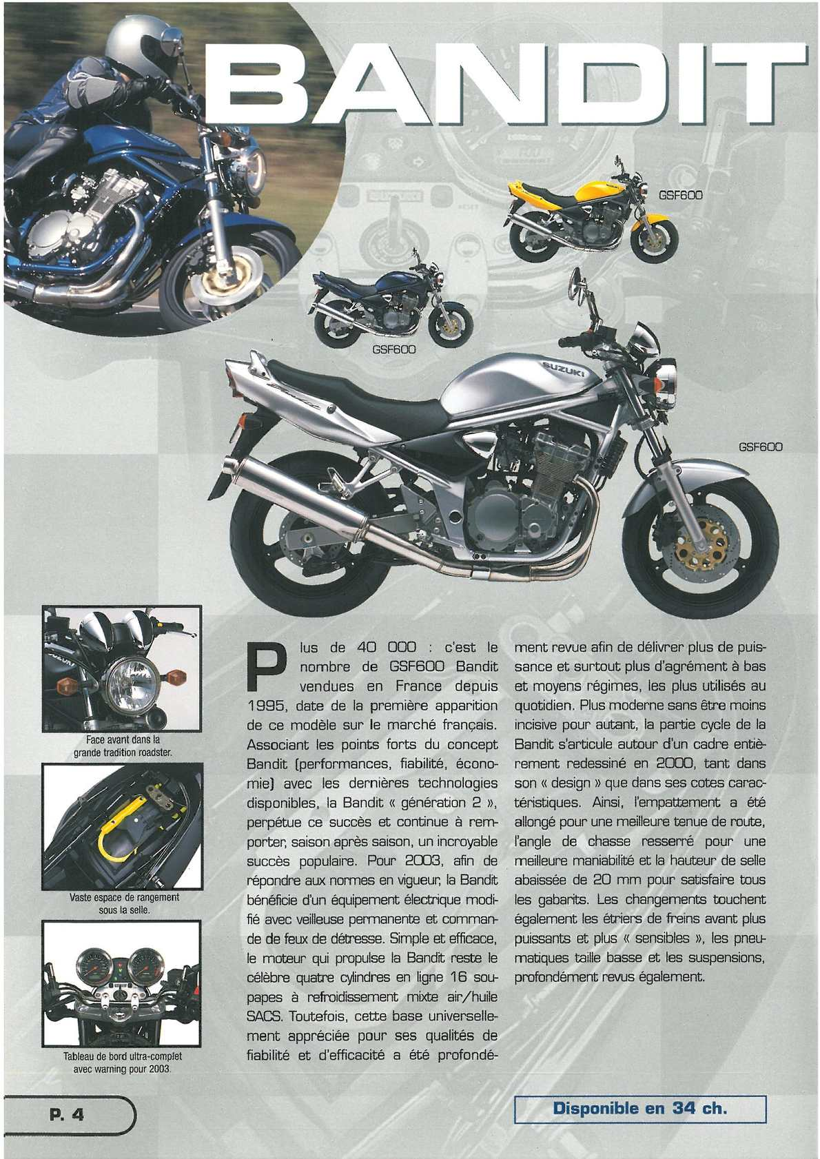 CATALOGUE COMMERCIAL GSF 2003