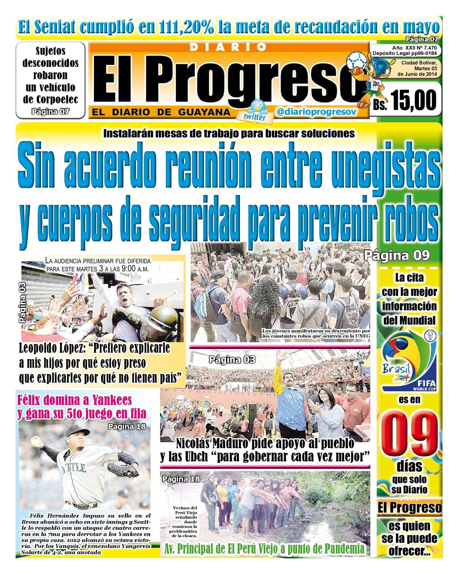 Calaméo - DIARIO EL PROGRESO EDICIÓN DIGITAL 03-06-2014