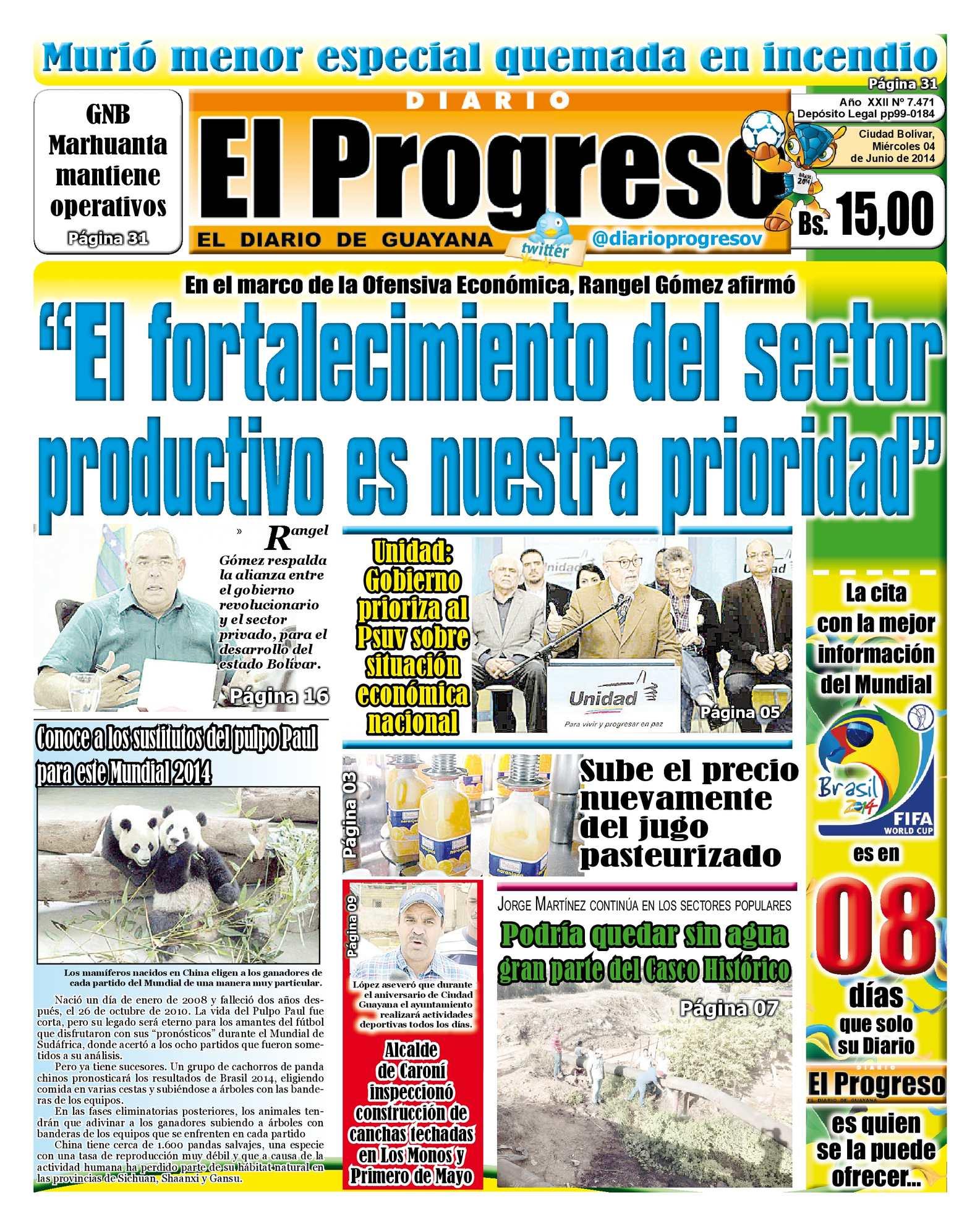 Calaméo - DIARIO EL PROGRESO EDICIÓN DIGITAL 04-06-2014