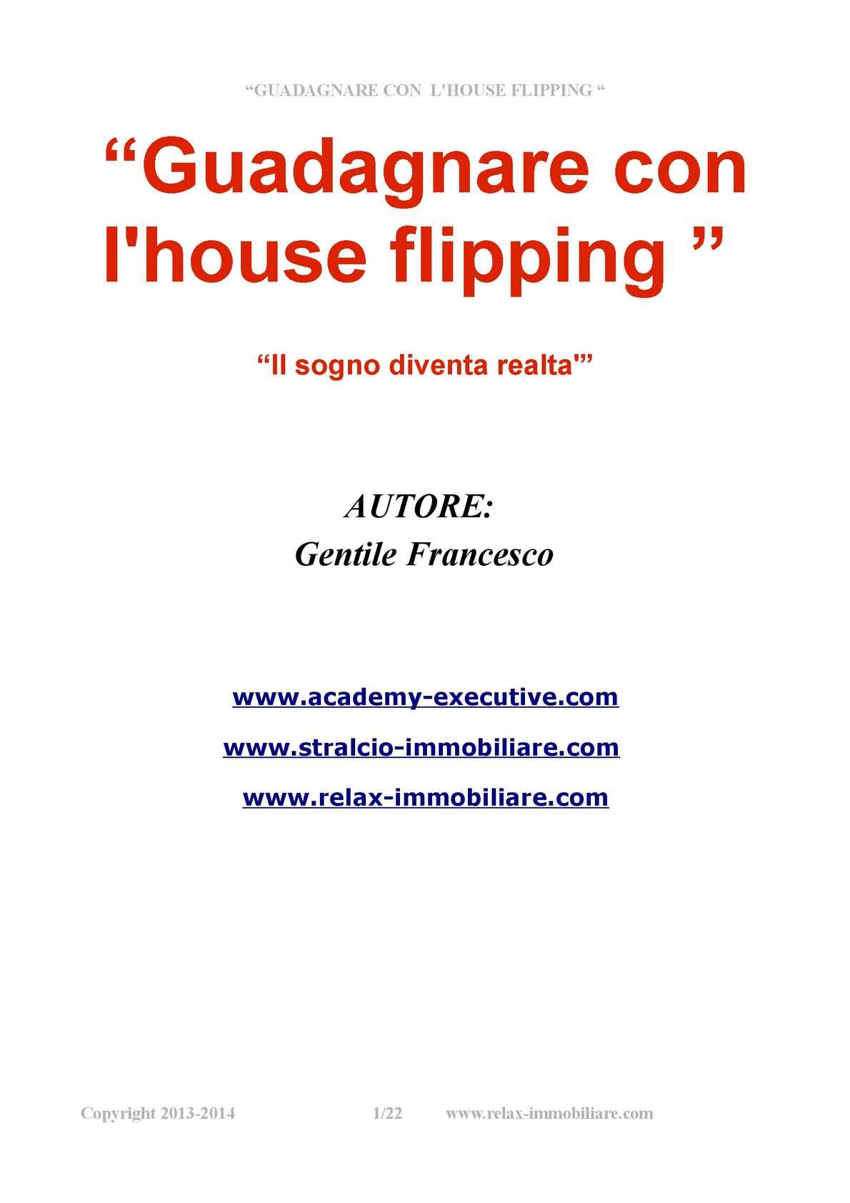 HOUSE FLIPPING- INVESTIMENTI IMMOBILIARI