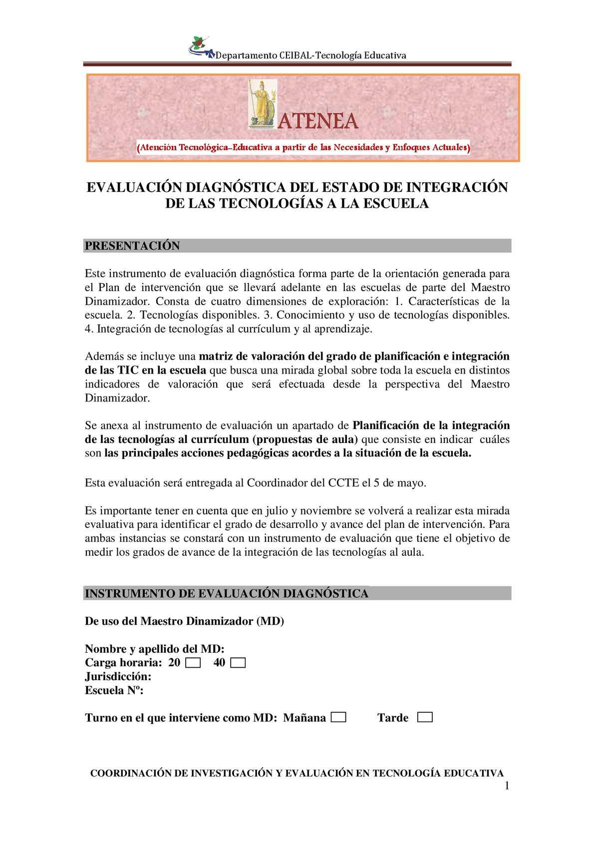 Calaméo - Instrumento evaluación Dinamizadores - ATENEA