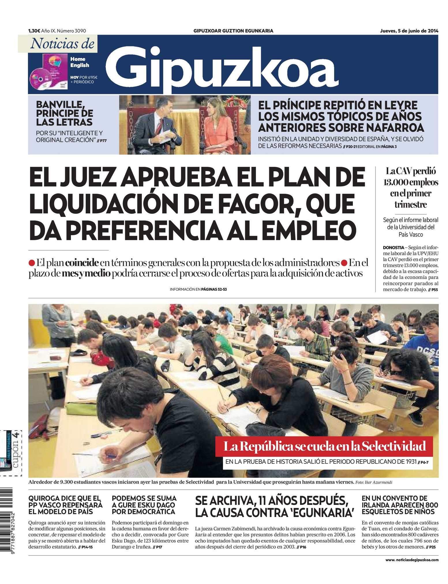 Calaméo - Noticias de Gipuzkoa 20140605