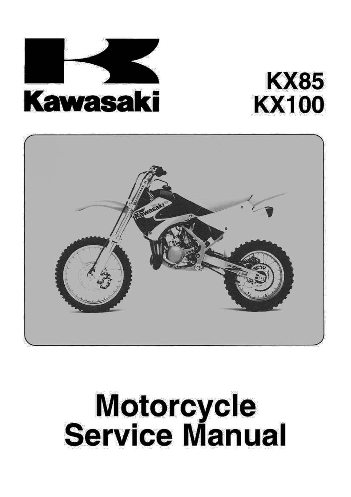 calam o 2001 2007 kawasaki kx 85 100 service repair manual pdf rh calameo com Kawasaki KM 100 KX 250