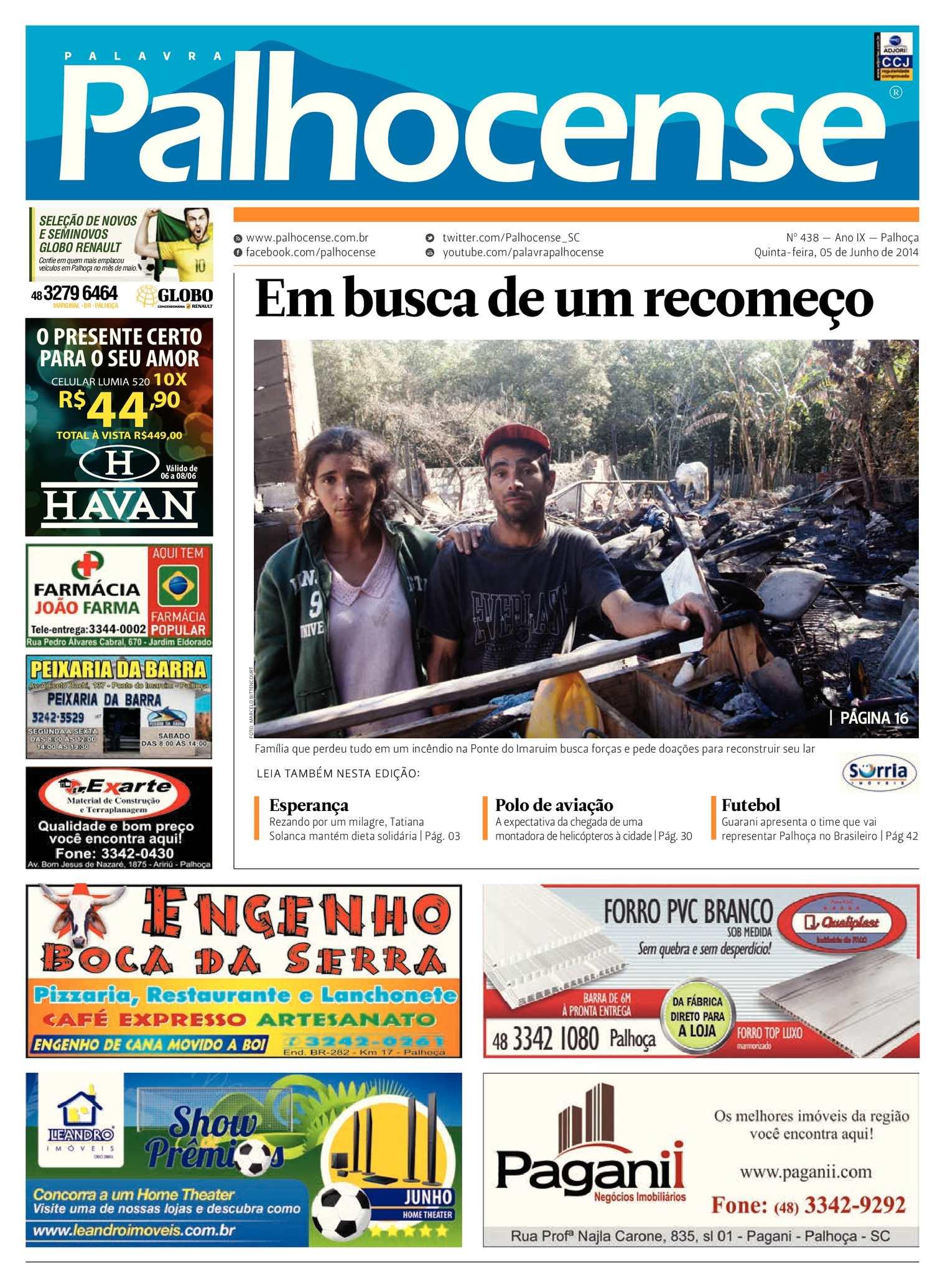 Calaméo - Jornal Palavra Palhocense - Edição 438 206408672a963