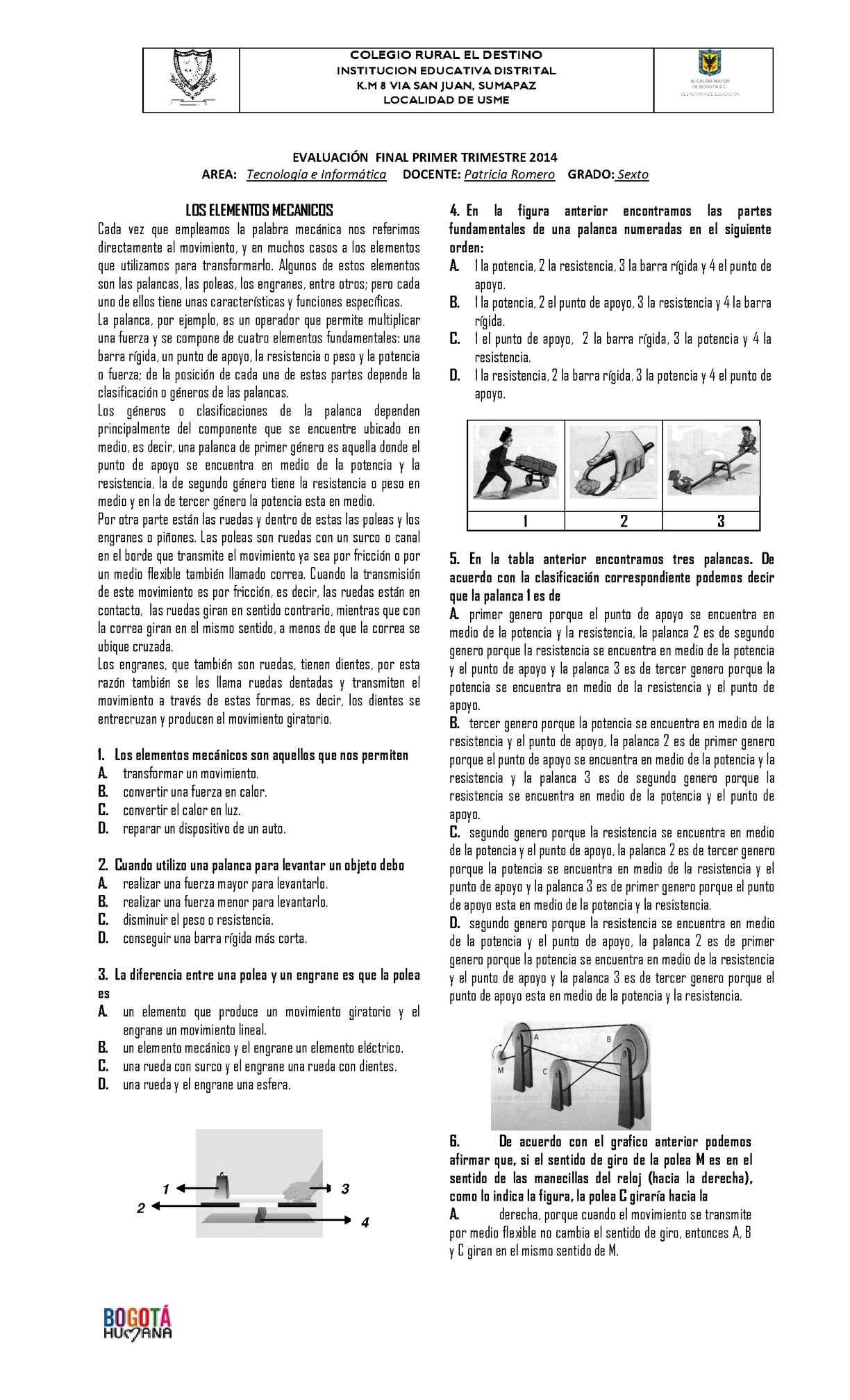 BANCO DE PRUEBAS TIPO ICFES ÁREA DE TECNOLOGÍA E INFORMÁTICA