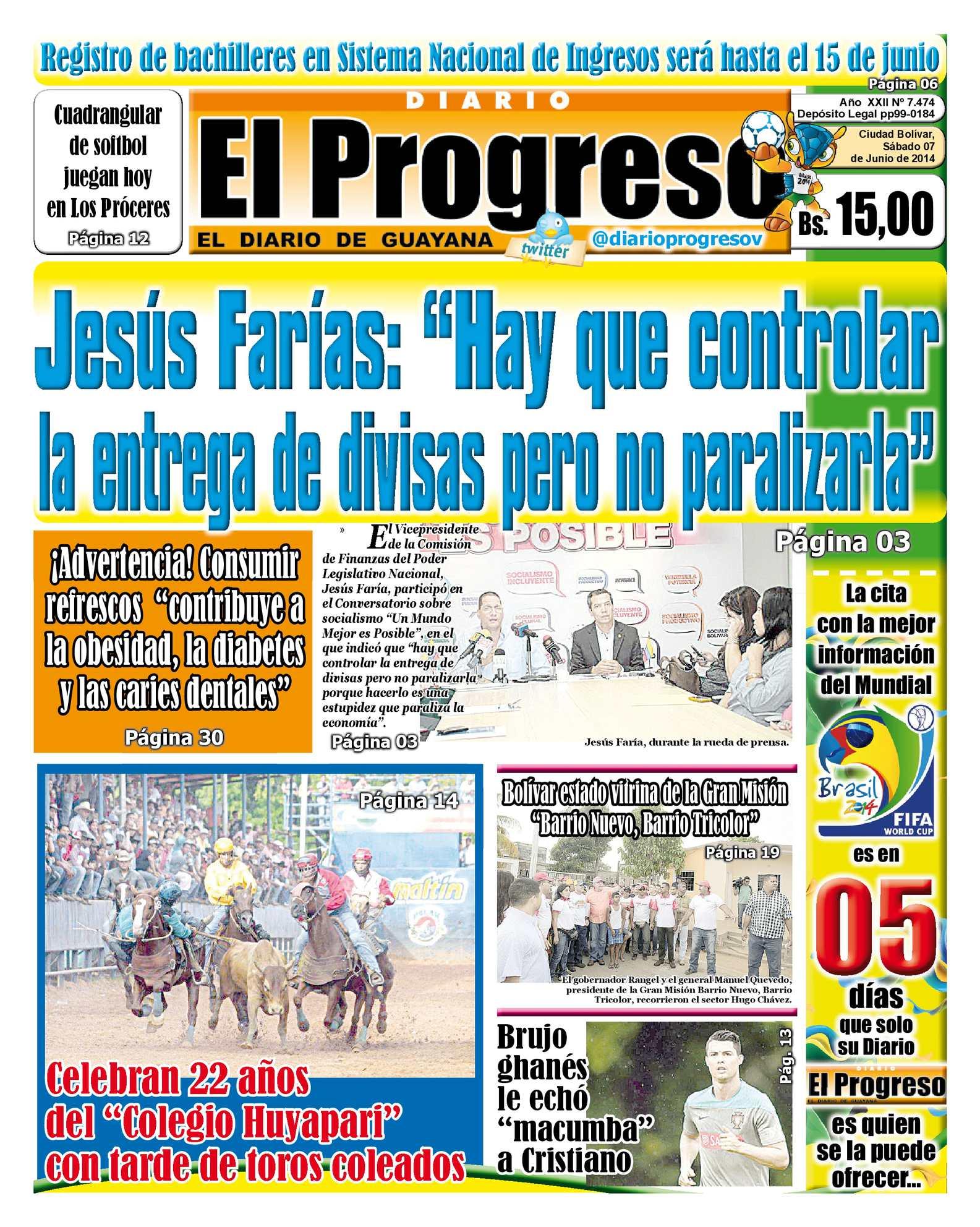 Calaméo - DIARIO EL PROGRESO EDICIÓN DIGITAL 07-06-2014