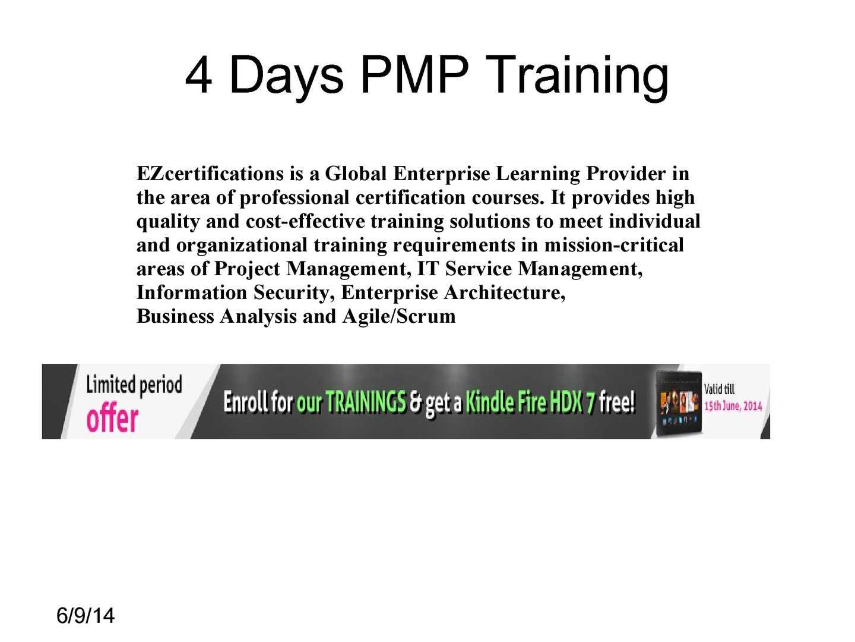 Calamo 4 Days Pmp Certification Training Online
