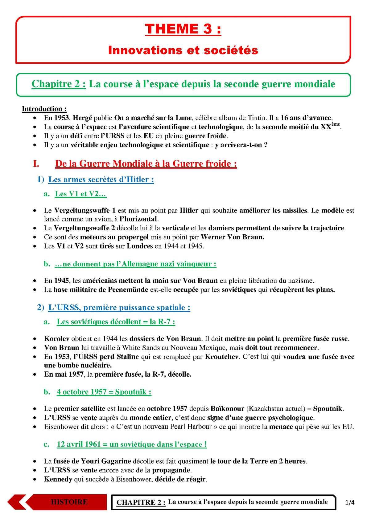 TS - HISTOIRE-GEOGRAPHIE - Chapitre 6 | JéSky.fr