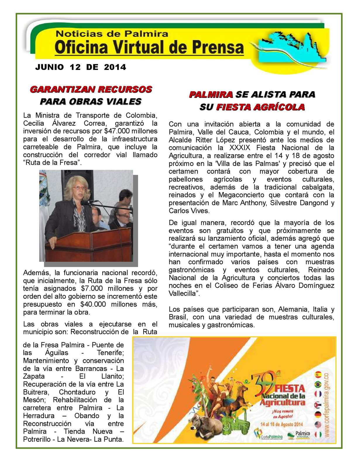 Calaméo - Las Noticias de Palmira