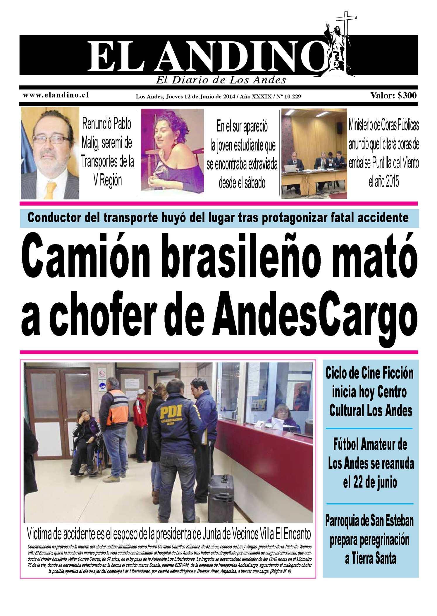 Calaméo - Diario El Andino - jueves 12 de Junio de 2014