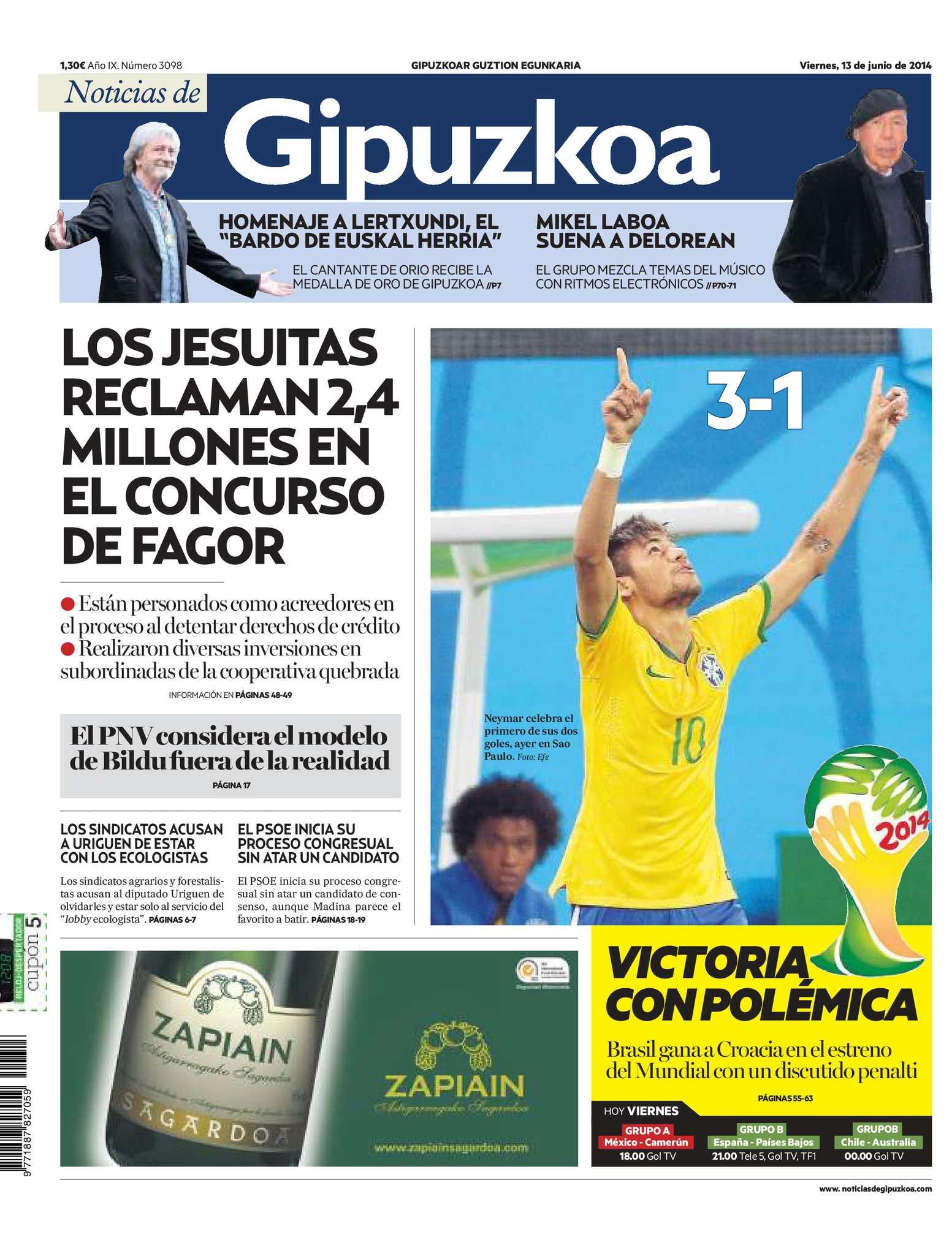 Calaméo - Noticias de Gipuzkoa 20140613