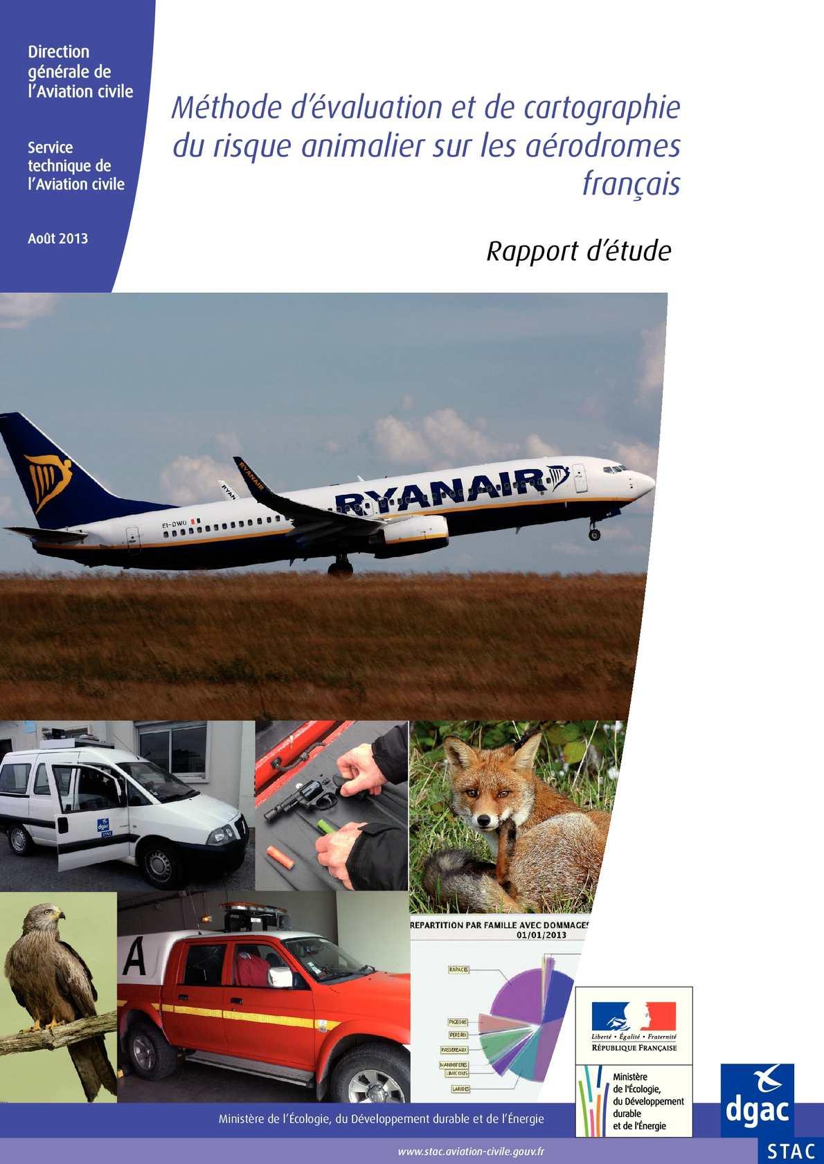 Méthode d'évaluation et de cartographie du risque animalier sur les aérodromes français
