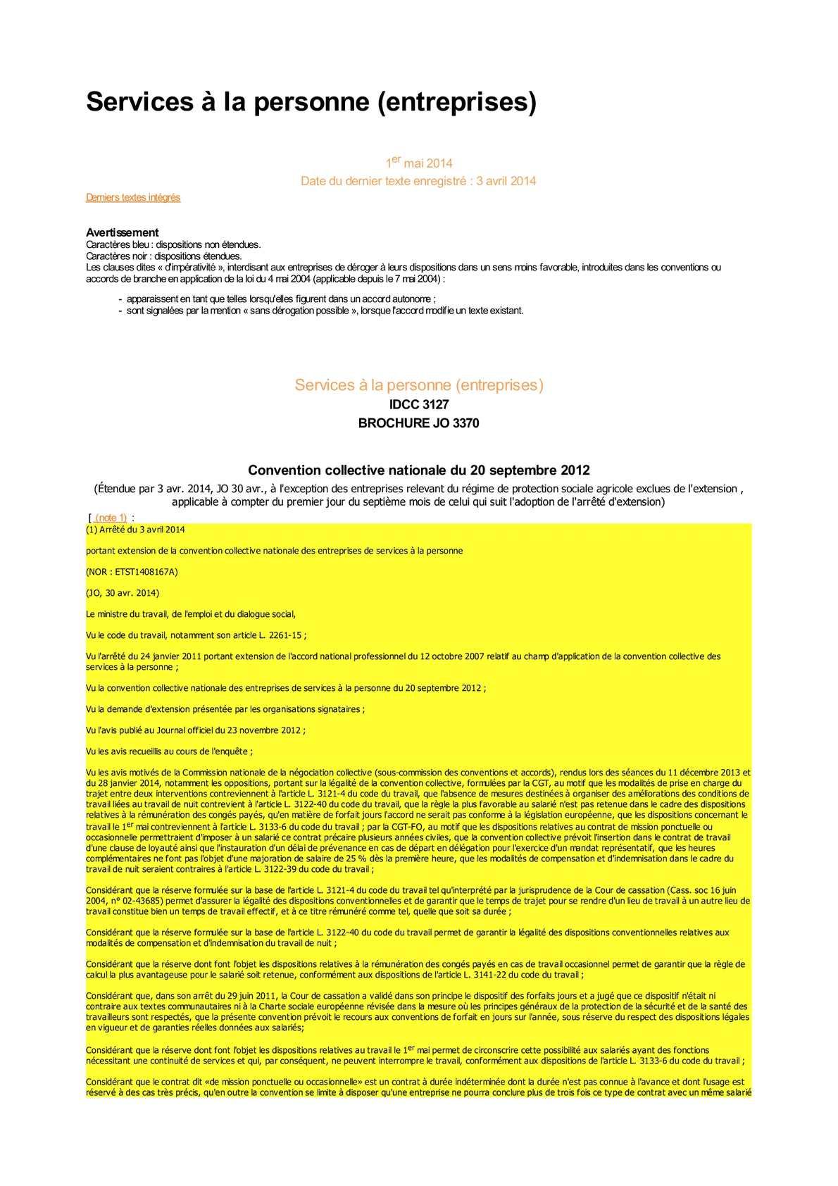 Arrêté du 25 octobre 2007 portant extension d'un accord régional (Pays de la