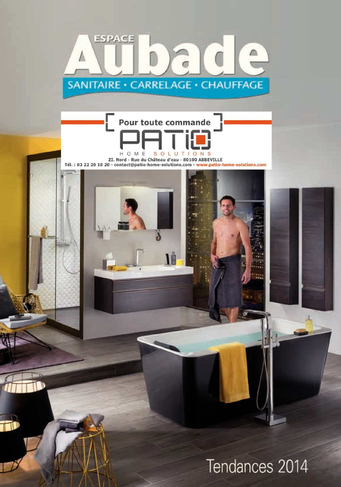 Calam o catalogue aubade patio 2014 - Delpha salle de bain ...