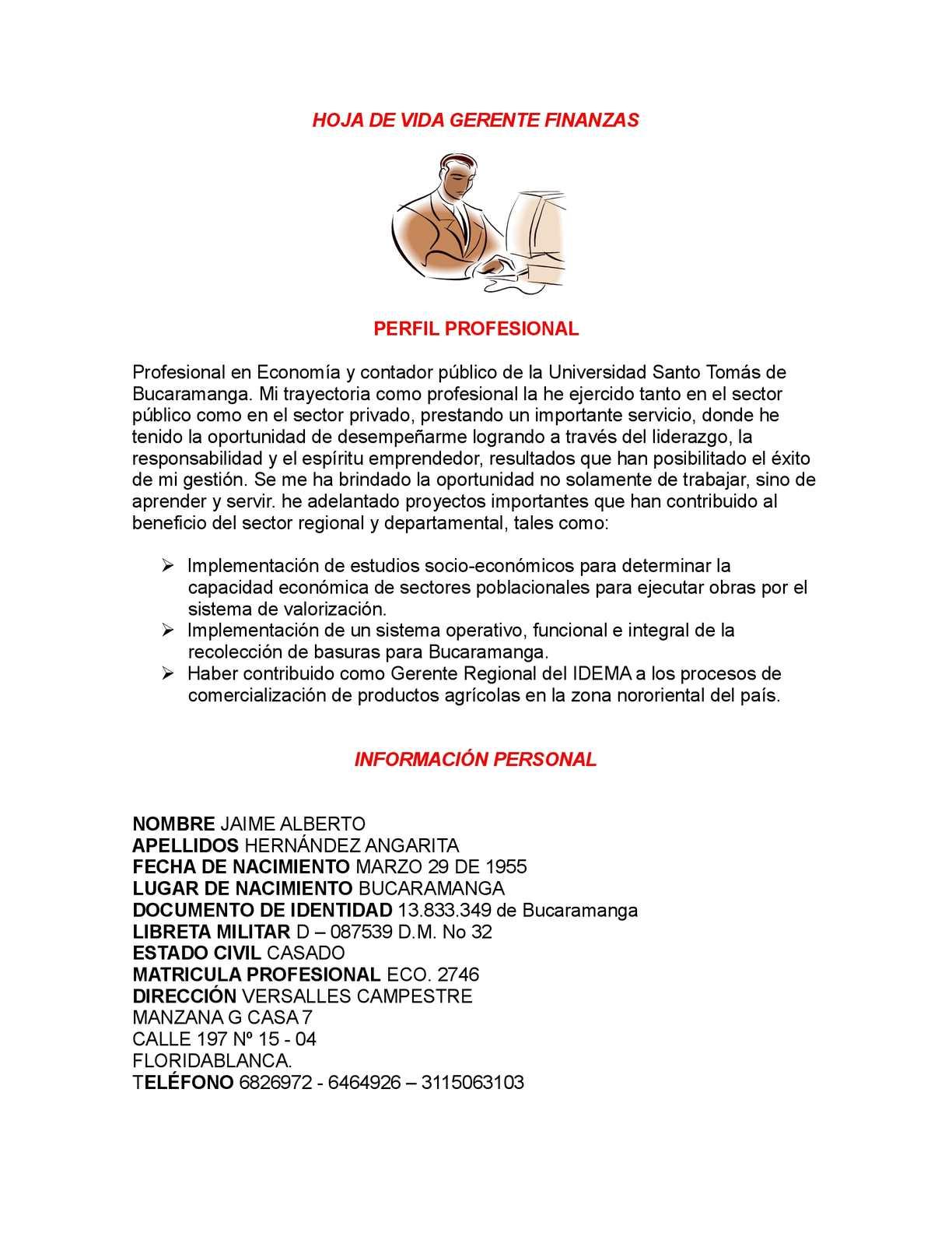 Calaméo - HOJA DE VIDA GERENTE