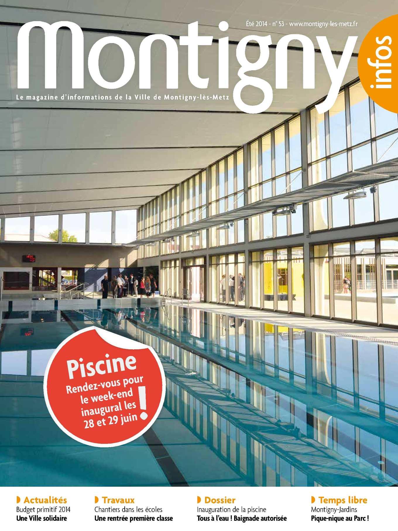 Calam o montigny infos n 53 for Piscine montagny
