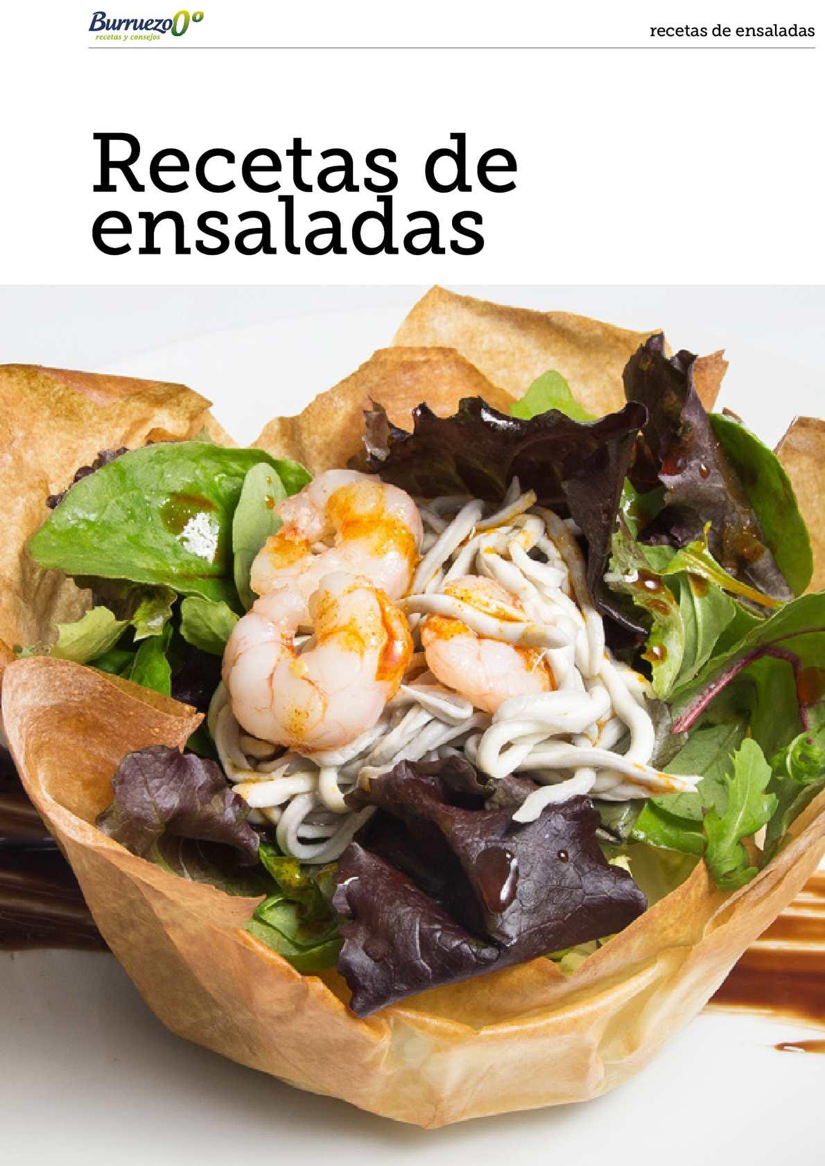 Recetas de ensaladas de Burruezo 0º