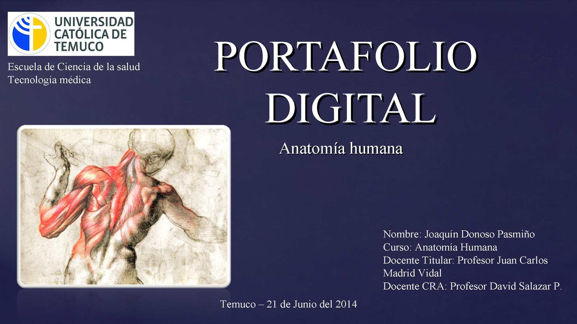 Calaméo - Portafolio digital UCT - Anatomía humana