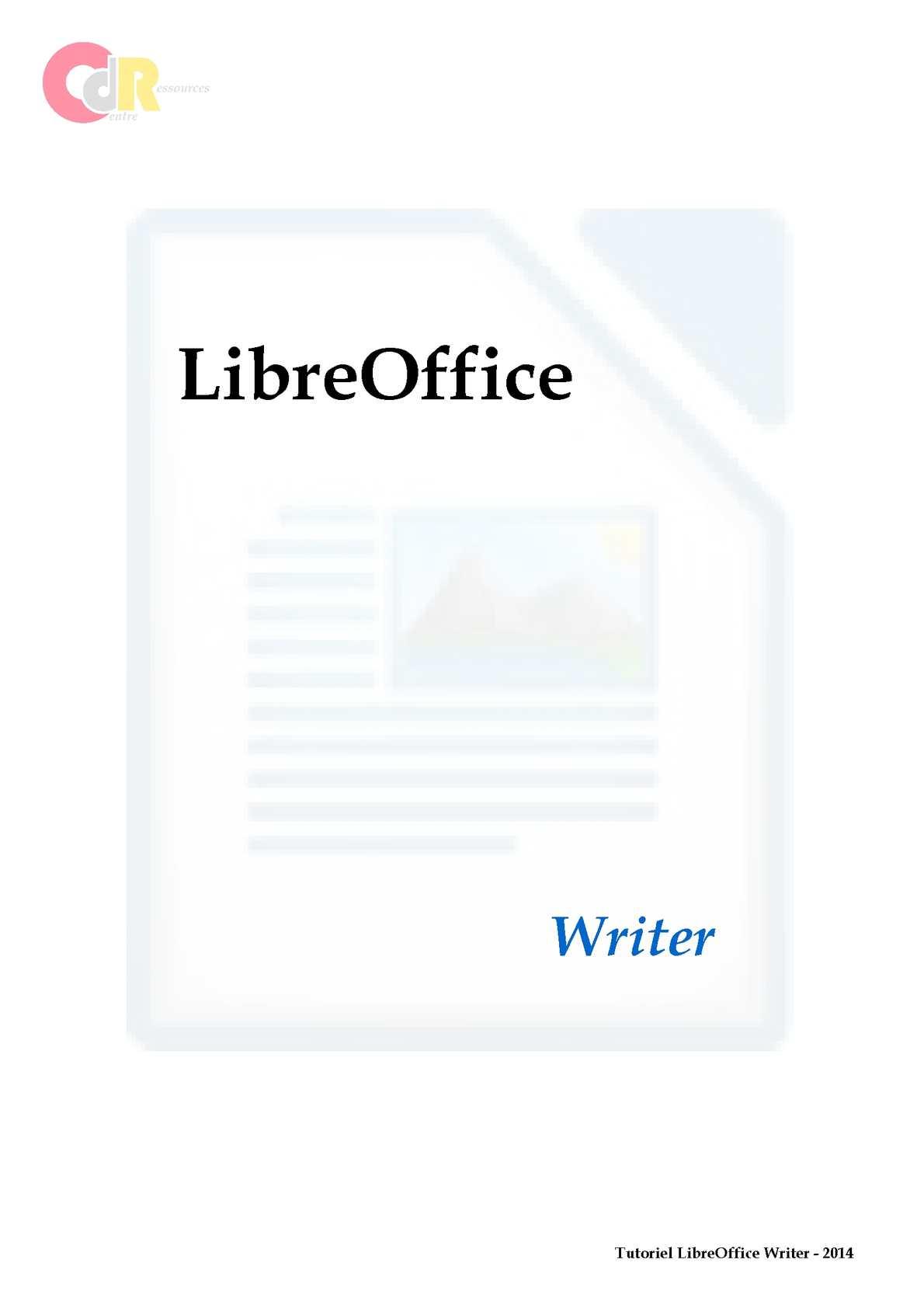 Calam o tutoriel libreoffice writer - Arriere plan open office writer ...