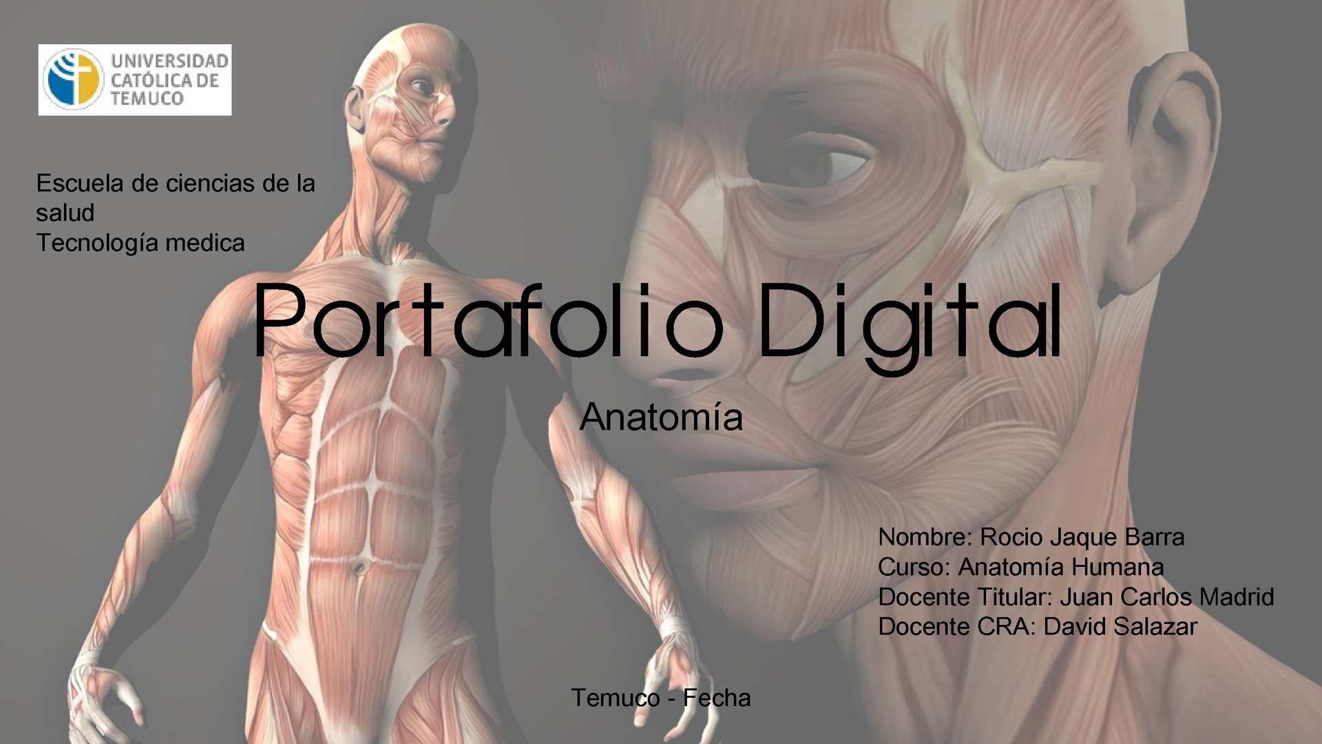 Calaméo - Portafolio Digital Anatomia Tecnologia Medica