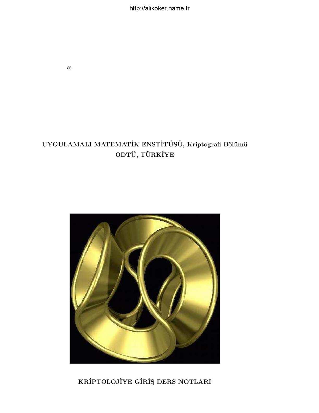Kriptoloji - Ersan Akyıldız