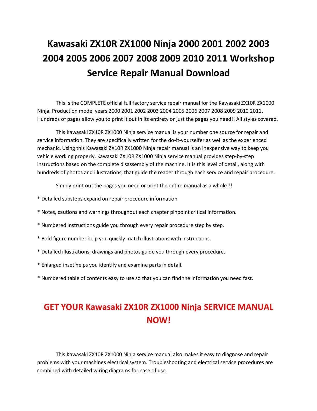 calaméo kawasaki zx10r zx1000 ninja 2000 2001 2002 2003 2004 calaméo kawasaki zx10r zx1000 ninja 2000 2001 2002 2003 2004 2005 2006 2007 2008 2009 2010 2011 service repair manual pdf