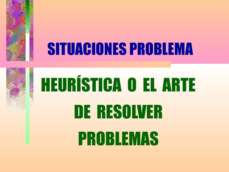 Situaciones problemas