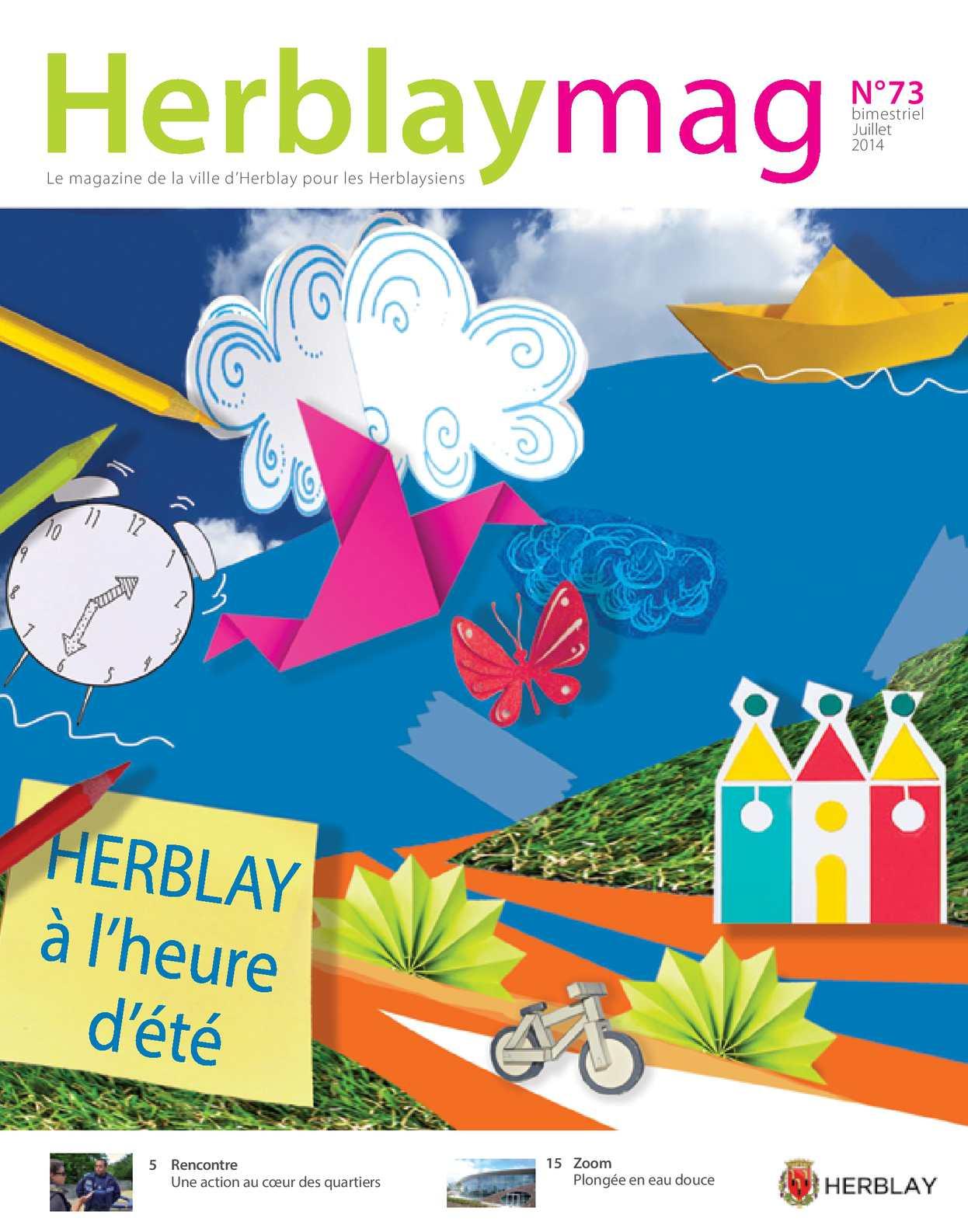 Calam o herblay mag n 73 juillet 2014 for Piscine d herblay