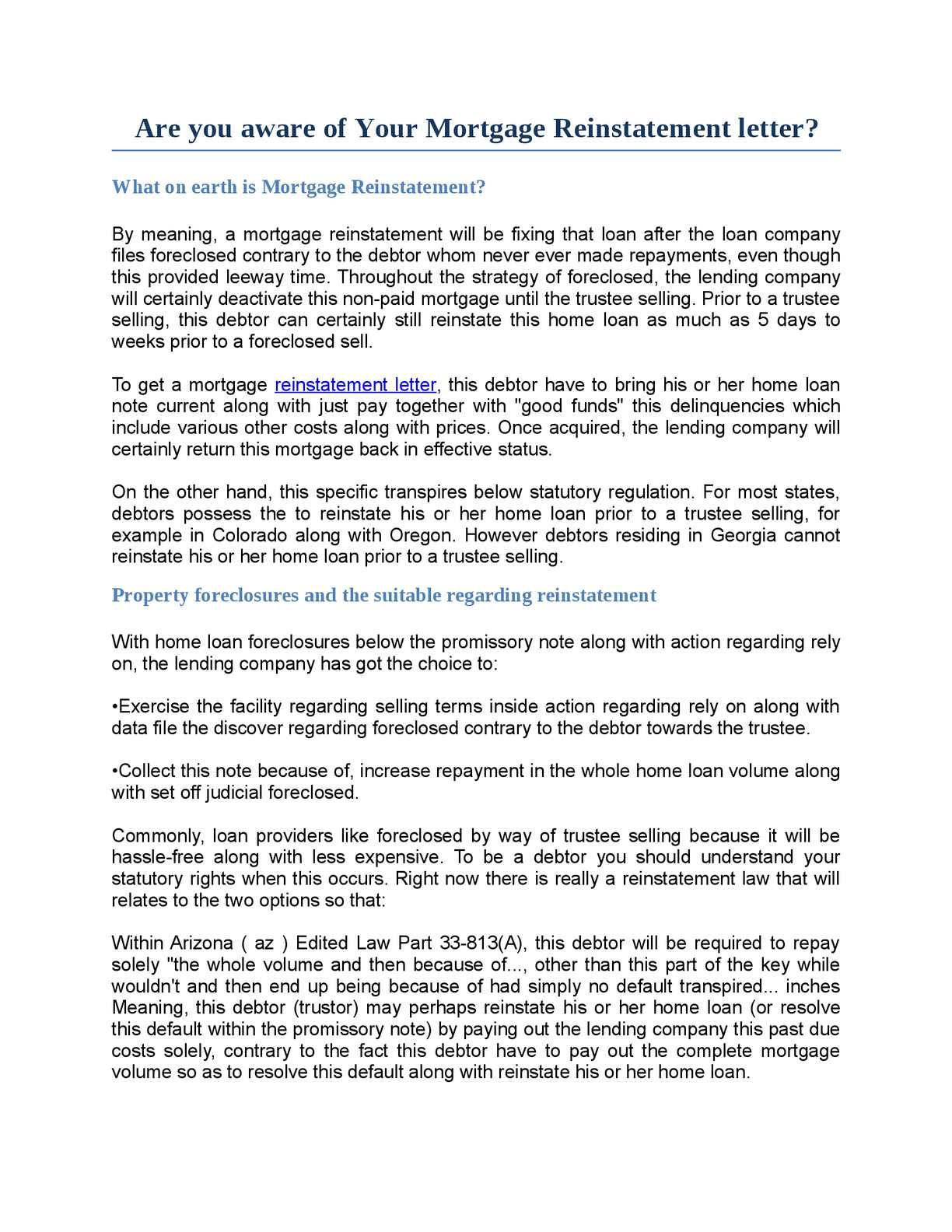Calamo are you aware of your mortgage reinstatement letter altavistaventures Images