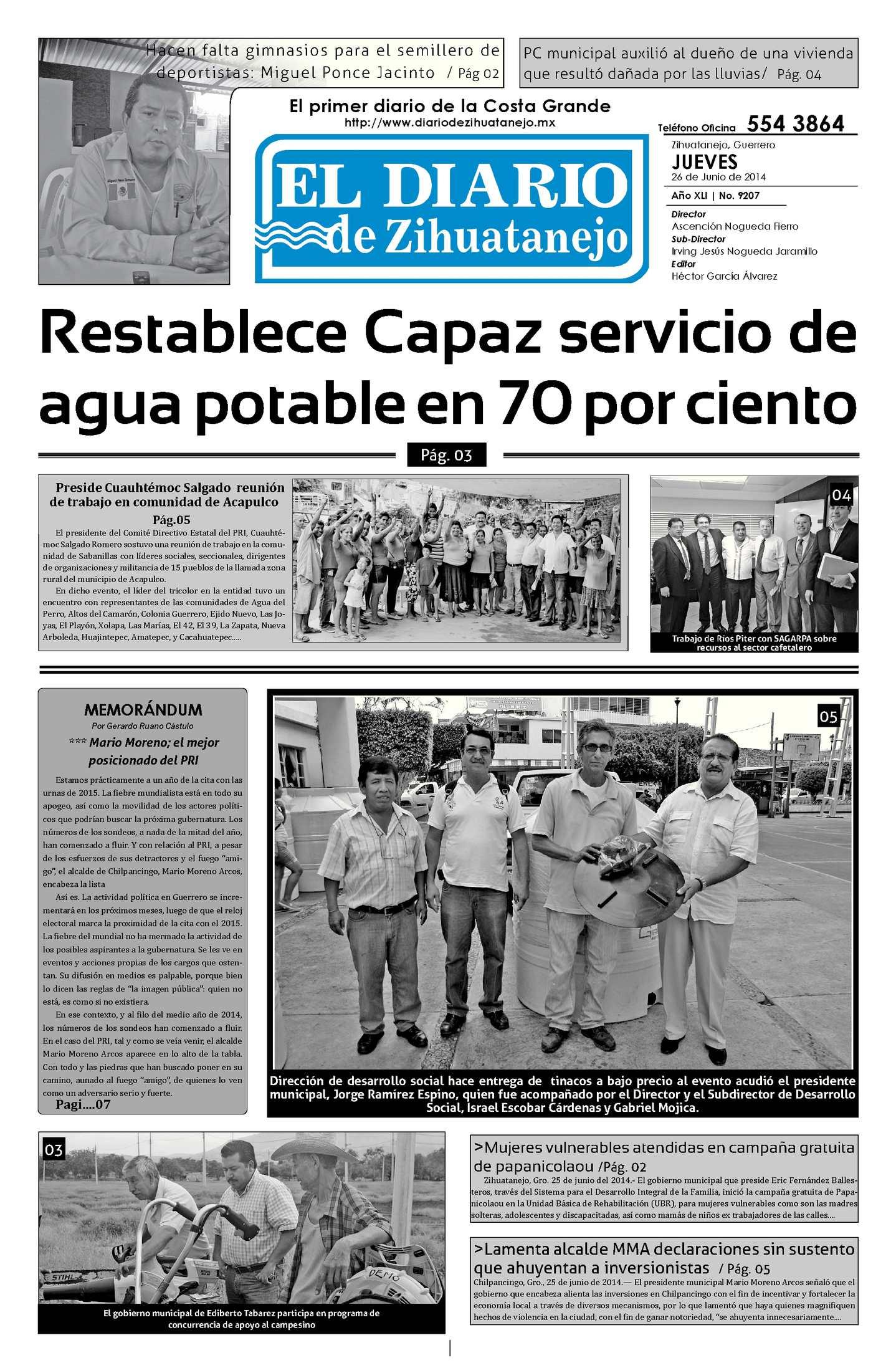 Calaméo - Edición Jueves 26 de Junio del 2014