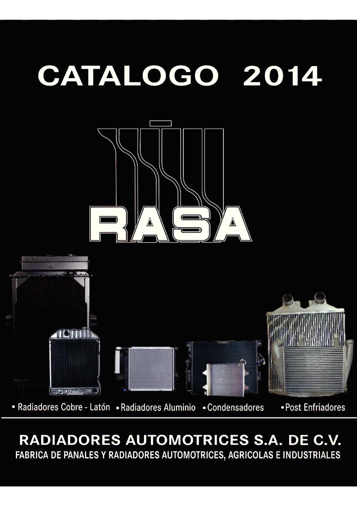 Calam o catalogo rasa 2014 junio for Catalogo de radiadores
