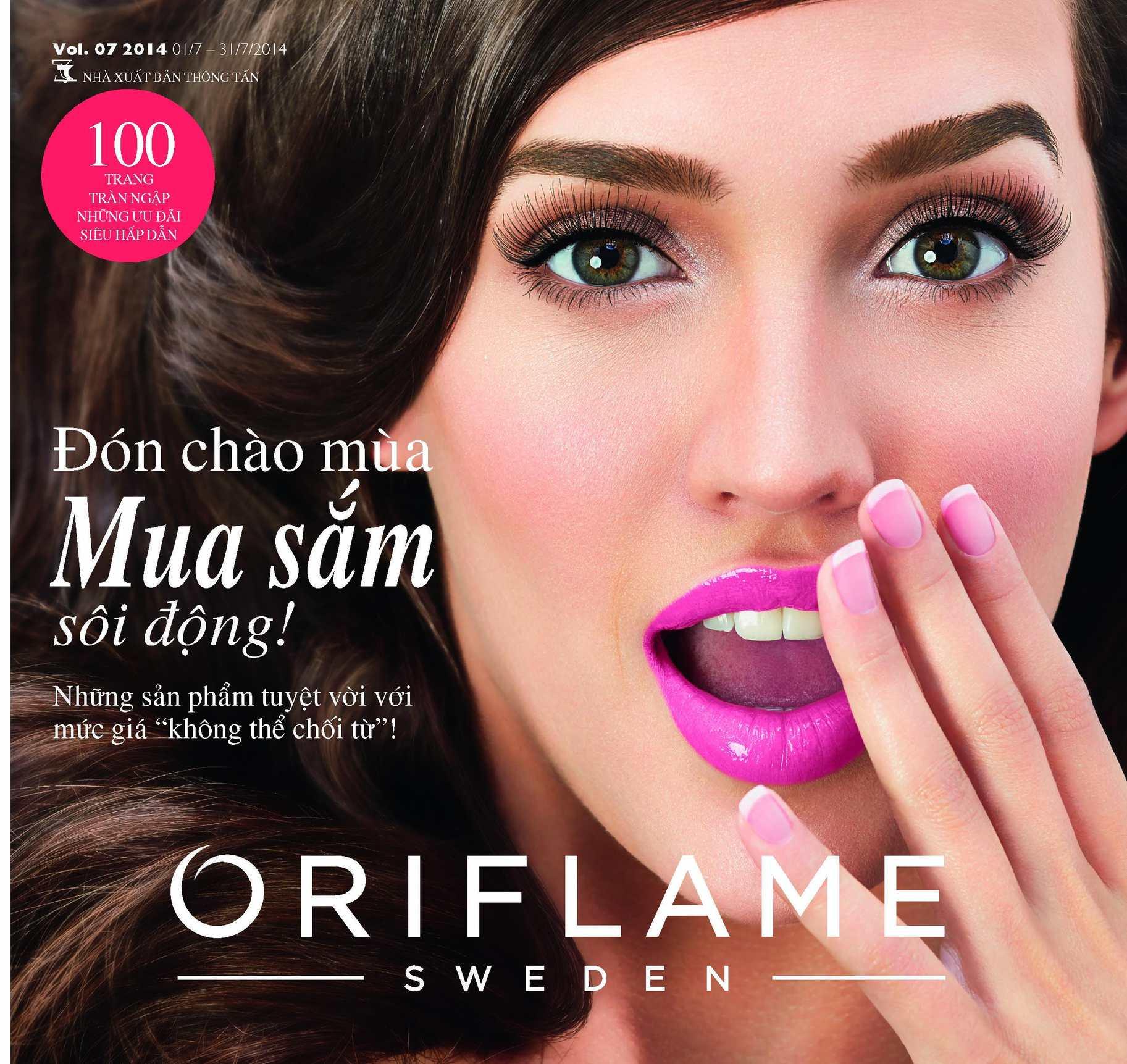 Catalogue My Pham Oriflame 7-2014