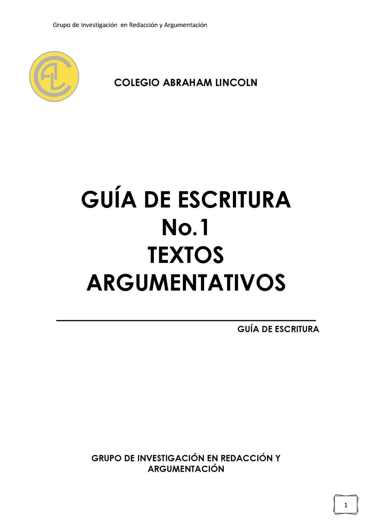 Calaméo - GUÍA DE ESCRITURA No.1 SOBRE TEXTOS ARGUMENTATIVOS