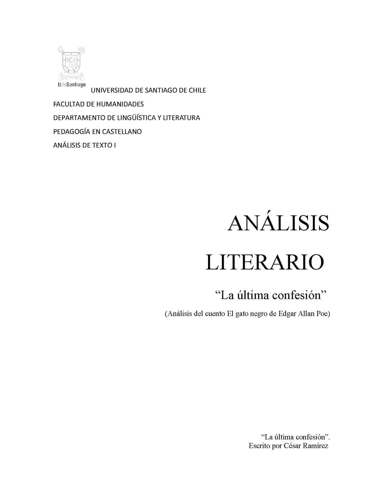 Análisis literario el gato negro