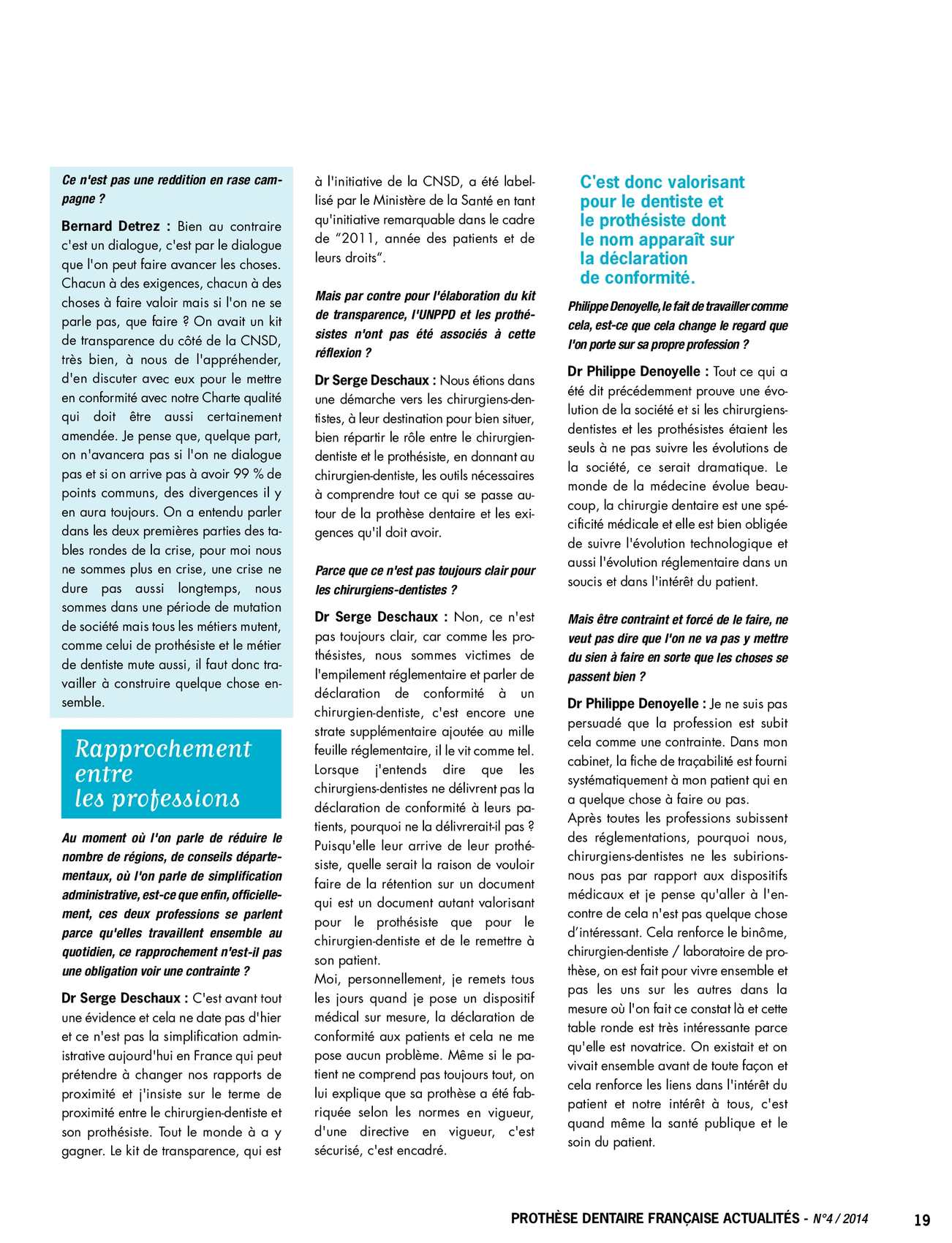 Prothèse Dentaire Française Actualités n°4/2014 - CALAMEO Downloader