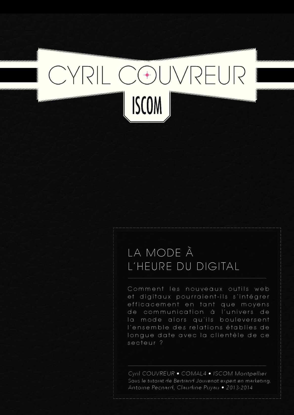 e6fae428611405 Calaméo - La Mode à l heure du Digital - Cyril Couvreur