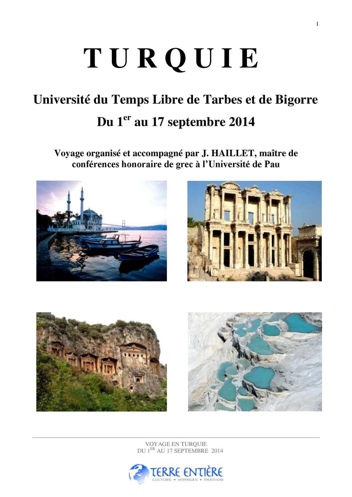 programme voyage organisé turquie