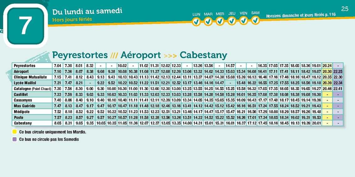 Calam o ligne 7 a roport perpignan centre ville perpignan - Bus perpignan port leucate ...