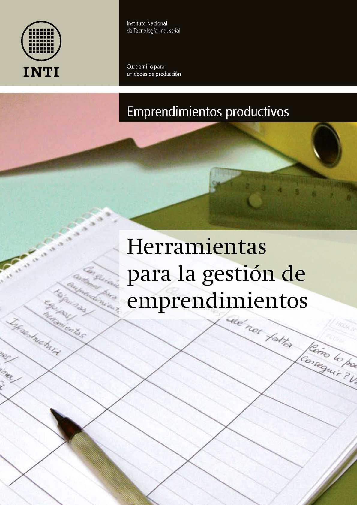 Cuadernillo de Gestión de Emprendimientos - INTA