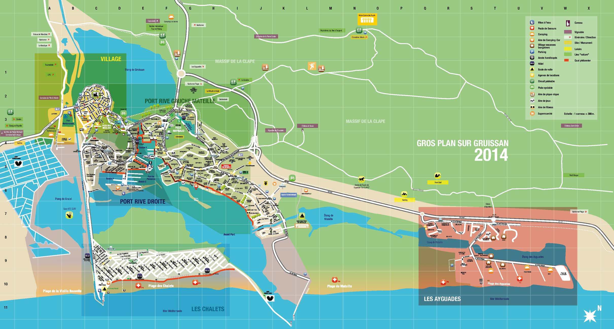 Calam o plan du village de gruissan - Office du tourisme de gruissan ...