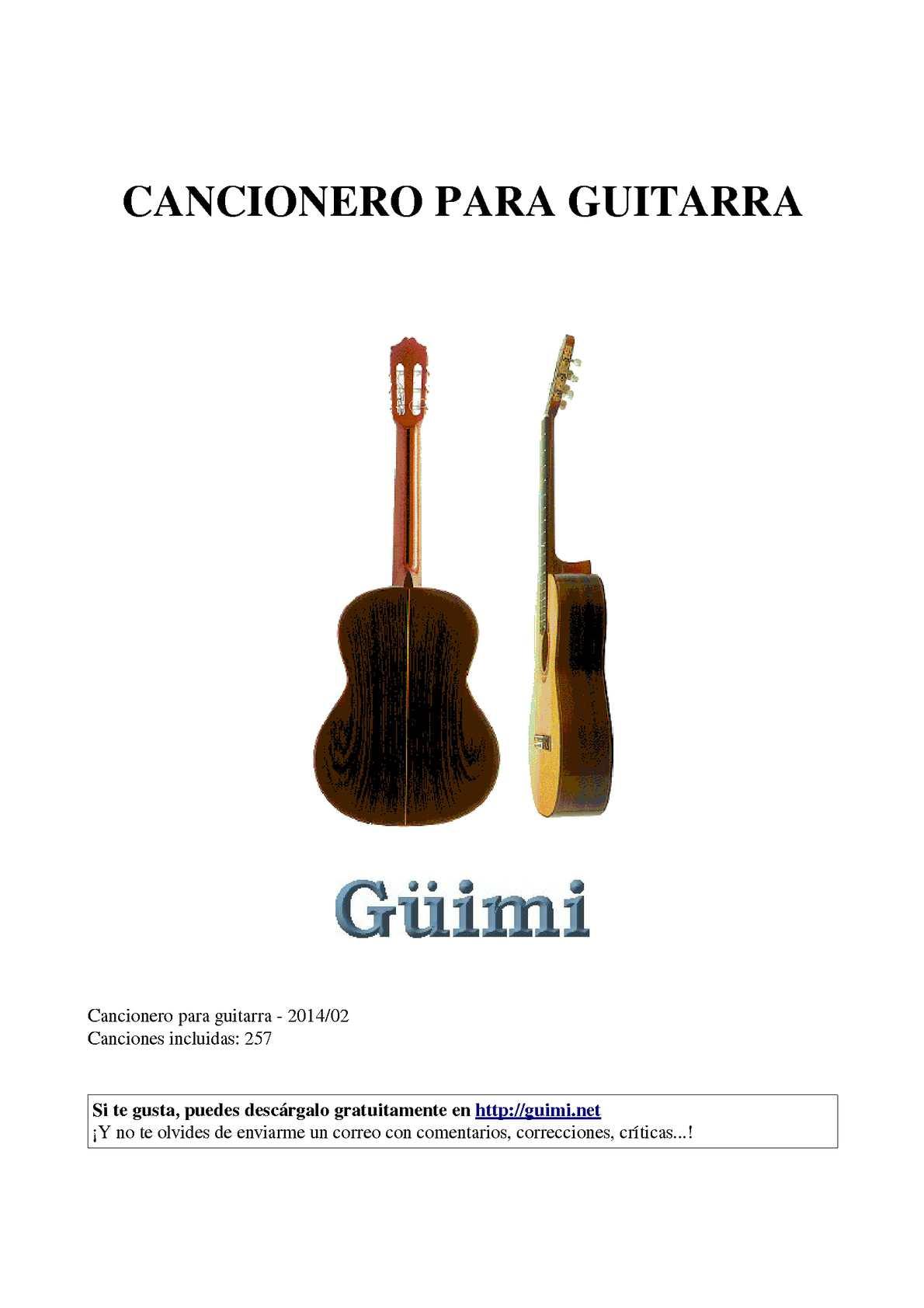 Tablatura mi vestido azul para guitarra
