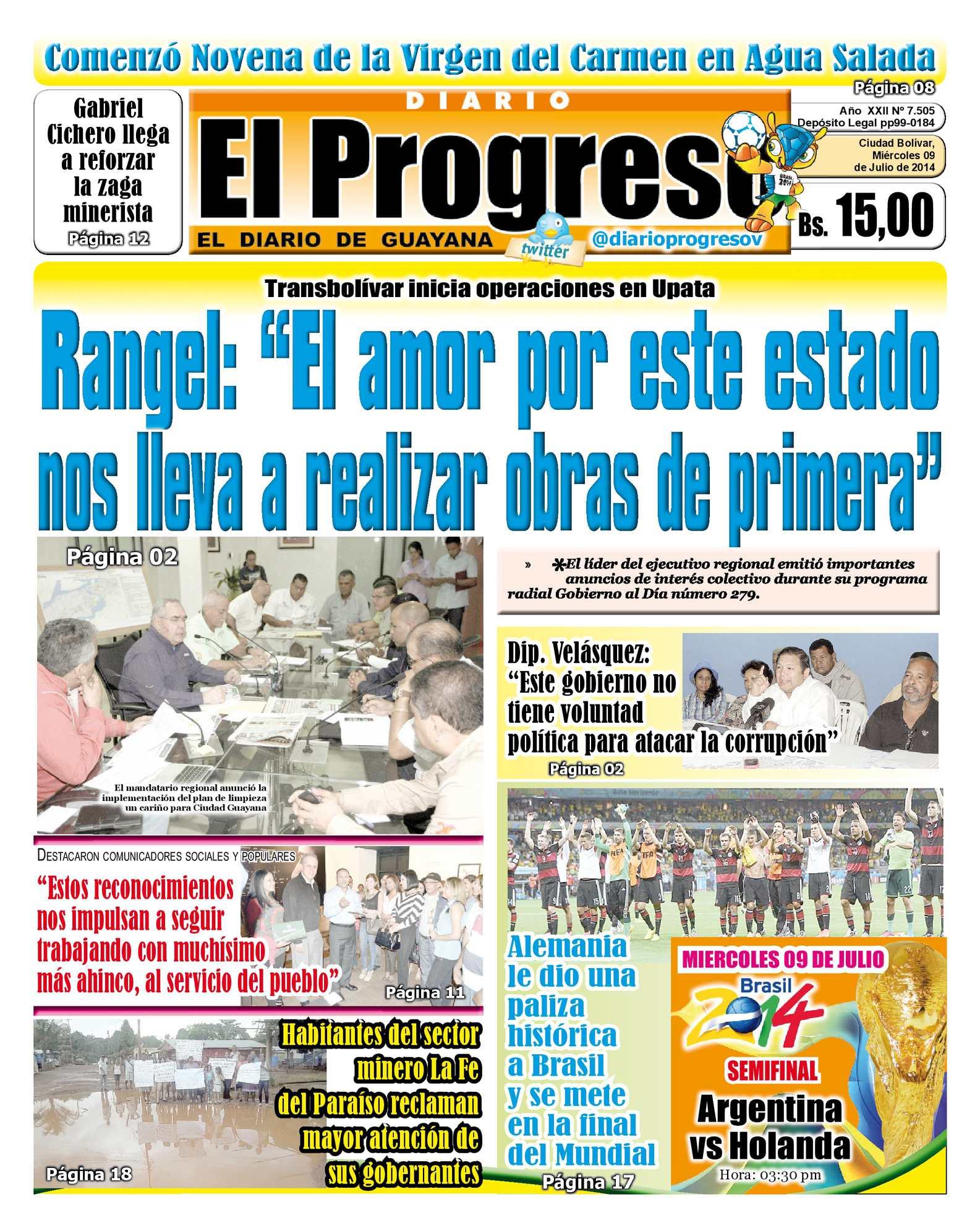 Calaméo - DIARIO EL PROGRESO EDICIÓN DIGITAL 09-07-2014