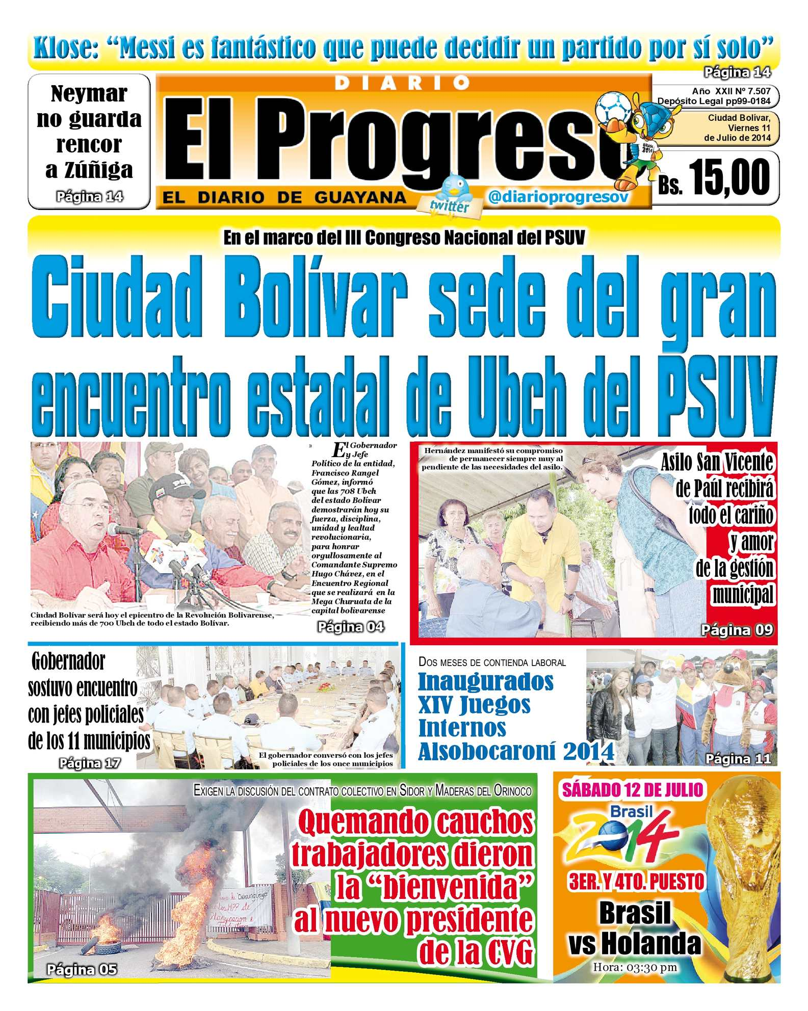 Calaméo - DIARIO EL PROGRESO EDICIÓN DIGITAL 11-07-2014