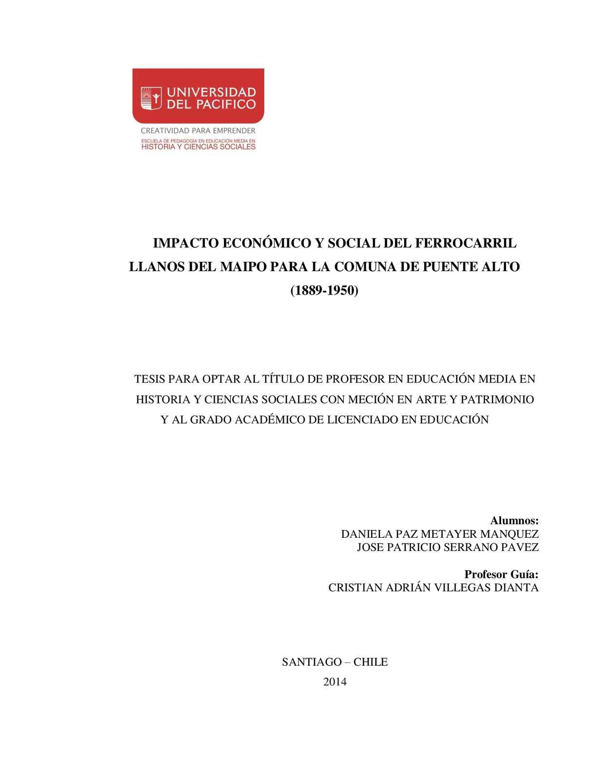 Calaméo - impacto económico y social del ferrocarril llanos del ...
