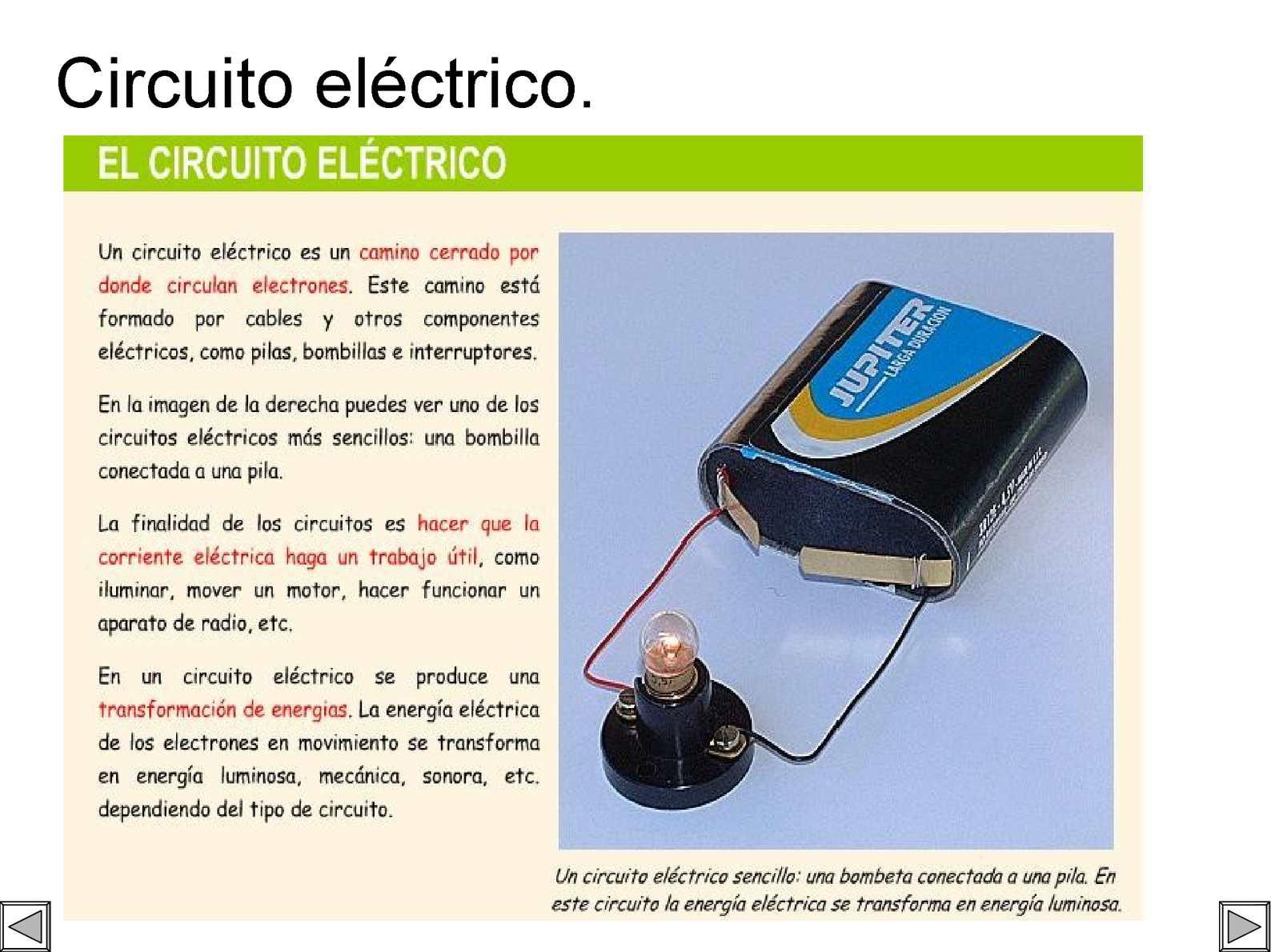 Circuito Sencillo : Calaméo circuito electrico